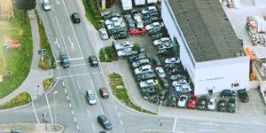 Die Autohalle Gütersloh aus der Luft